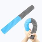 Silicone Multifunctional Fitness Bar Rehabilitation Training Arm Strength Bar Wrist Strength Forging Resistance Bar(Light Blue + Gray)