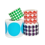 Color High-Viscosity Coated Paper Sticker Round Sticker,Random Color Delivery, Size: Diameter 25mm
