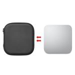 PU Leather Protective Bag Storage Box for Apple Mac Mini Octa-core M1 Chip Host(Black)