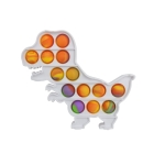 3 PCS Colorful Children Fingers Press The Bubble Toy Tabletop Game Board, Style: Dinosaur