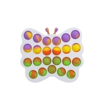 3 PCS Colorful Children Fingers Press The Bubble Toy Tabletop Game Board, Style: Butterflyr