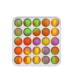 3 PCS Colorful Children Fingers Press The Bubble Toy Tabletop Game Board, Style: Square