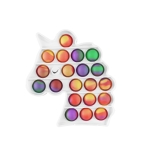 3 PCS Colorful Children Fingers Press The Bubble Toy Tabletop Game Board, Style: Pony