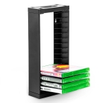 DOBE TYX-0659 Host Single-Layer Game Disc Storage Rack Wall-Mounted Storage Disc Rack Suitable For XBOX Series S / X(Black)