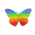 Silicone Rainbow Color Finger Press Bubble Desktop Decompression Toy For Children(Rainbow Color Butterfly (45×30))