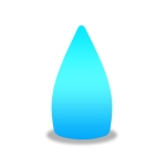 3W Alexa Voice Control Smart Light WIFI Mobile Phone APP Atmosphere Night Light, Specification: 11x20cm (Small Water Droplets)