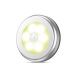 6 LED Home Wardrobe Smart Human Body Sensor Light, Light color: Warm Light (Silver)