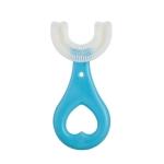 10 PCS U-shaped Children Baby Hand-held Soft Toothbrush Brushing Artifact for 2-6 Years Old, Style: Heart Shape (Blue)