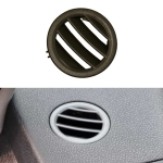 Car Left Side Dashboard Small Air Outlet Circular Air-conditioning Outlet for Mercedes-Benz C Class W204 (Brown)