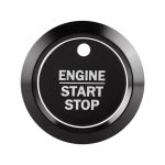 Car Engine Start Key Push Button Ring Trim Sticker Decoration for Ford F150 (Black)