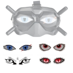 RCSTQ 4 in 1 Patterns Eye Sticker Easy Paste Facial Expression Personalized Sticker for DJI FPV Goggles V2