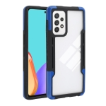 For Samsung Galaxy A12 TPU + PC + Acrylic 3 in 1 Shockproof Protective Case(Blue)