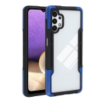 For Samsung Galaxy A32 TPU + PC + Acrylic 3 in 1 Shockproof Protective Case(Blue)