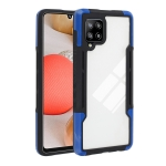 For Samsung Galaxy A42 TPU + PC + Acrylic 3 in 1 Shockproof Protective Case(Blue)