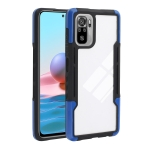 For Xiaomi Redmi Note 10 TPU + PC + Acrylic 3 in 1 Shockproof Protective Case(Blue)
