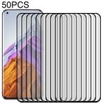 For Xiaomi Mi 11 Pro / 11 Ultra 50 PCS 3D Curved Silk-screen PET Full Coverage Protective Film(Black)