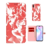 For Xiaomi Redmi 9A Cloud Fog Pattern Horizontal Flip Leather Case with Holder & Card Slot & Wallet(Red)