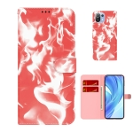 For Xiaomi Mi 11 Lite Cloud Fog Pattern Horizontal Flip Leather Case with Holder & Card Slot & Wallet(Red)