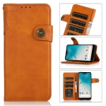 For Samsung Galaxy A03s KHAZNEH Dual-Splicing Cowhide Texture Horizontal Flip Leather Case with Holder & Card Slots & Wallet & Lanyard(Brown)