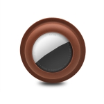 Adsorption Type Anti-scratch Silicone Shockproof Protective Cover Case For AirTag(Brown)