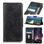 For Samsung Galaxy A03s Mirren Crazy Horse Texture Horizontal Flip Leather Case with Holder & Card Slots & Wallet(Black)