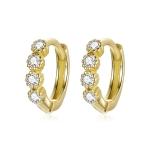 S925 Sterling Silver Simple Fashion Ear Buckle Women Earrings