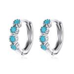 S925 Sterling Silver Simple Fashion Ear Buckle Women Earrings(Silver)