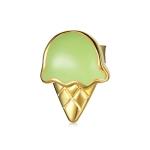 S925 Sterling Silver Small Ice Cream Ear Studs Women Earrings