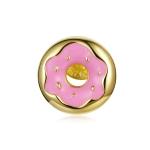 S925 Sterling Silver Donuts Ear Studs Women Earrings