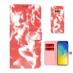 For Samsung Galaxy S10e Cloud Fog Pattern Horizontal Flip Leather Case with Holder & Card Slot & Wallet(Red)