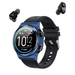 GT69 1.3 inch IPS Touch Screen IP67 Waterproof Bluetooth Earphone Smart Watch, Support Sleep Monitoring / Heart Rate Monitoring / Bluetooth Call(Black Blue)
