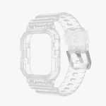 TPU Integrated Replacement Watch Case Watchband For Apple Watch Series 6 & SE & 5 & 4 40mm / 3 & 2 & 1 38mm(Transparent)