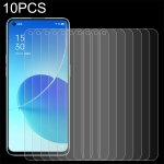 For OPPO Reno6 5G 10 PCS 0.26mm 9H 2.5D Tempered Glass Film