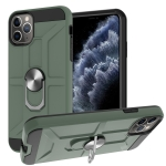 War-god Armor TPU + PC Shockproof  Magnetic Protective Case with Ring Holder For iPhone 11 Pro Max(Deep Green)