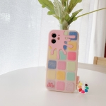 Color Small Lattice Pattern Silicone Protective Case iPhone 12 Pro Max(Pink)