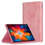 For Lenovo Tab P11 Pro TB-J716F / J706F Marble Cloth Texture TPU Horizontal Flip Leather Case with Holder & Sleep / Wake-up Function(Pink)