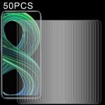 For OPPO Realme 8 5G 50 PCS 0.26mm 9H 2.5D Tempered Glass Film