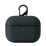 Business Cloth Earphone Protective Case with Hook For AirPods Pro(Dark Green)