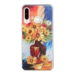 For Huawei P30 Lite Oil Painting Pattern TPU Shockproof Case(Vase)