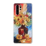 For Huawei P30 Pro Oil Painting Pattern TPU Shockproof Case(Vase)