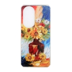 For Huawei P50 Pro Oil Painting Pattern TPU Shockproof Case(Vase)