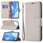 For Xiaomi Mi 11 Lite Litchi Texture Pure Color Horizontal Flip Leather Case with Holder & Card Slots & Wallet & Lanyard(Grey)