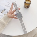 Solid Color Integrated TPU Replacement Strap Watchband For Apple Watch Series 6 & SE & 5 & 4 40mm / 3 & 2 & 1 38mm(Grey)