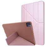 TPU Horizontal Deformation Flip Leather Case with Holder For iPad Pro 11 2021(Rose Gold)