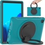 Shocproof Silicone + PC Protective Case with 360 Degree Rotation Foldable Handle Grip Holder & Pen Slot For Samsung Galaxy Tab A7 10.4 2020 T500(Blue)