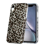 Shell Texture Pattern Full-coverage TPU Shockproof Protective Case For iPhone XR(Little Leopard)