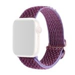 Wave Texture Nylon Replacement Watchbands For Apple Watch Series 6 & SE & 5 & 4 40mm / 3 & 2 & 1 38mm(Lilac)