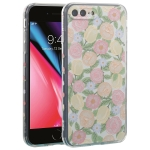 TPU Embossed + Double-sided Painting Protective Case For iPhone 8 Plus / 7 Plus(Pink Rose)