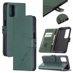 For Xiaomi Mi 10T Pro 5G Stitching Style 2-Color Cow Texture Horizontal Flip PU Leather Case with Holder & Card Slot & Lanyard(Green)