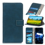 For Xiaomi Redmi Note 8 2021 Crocodile Texture Horizontal Flip Leather Case with Holder & Wallet & Card Slots & Photo Frame(Dark Green)